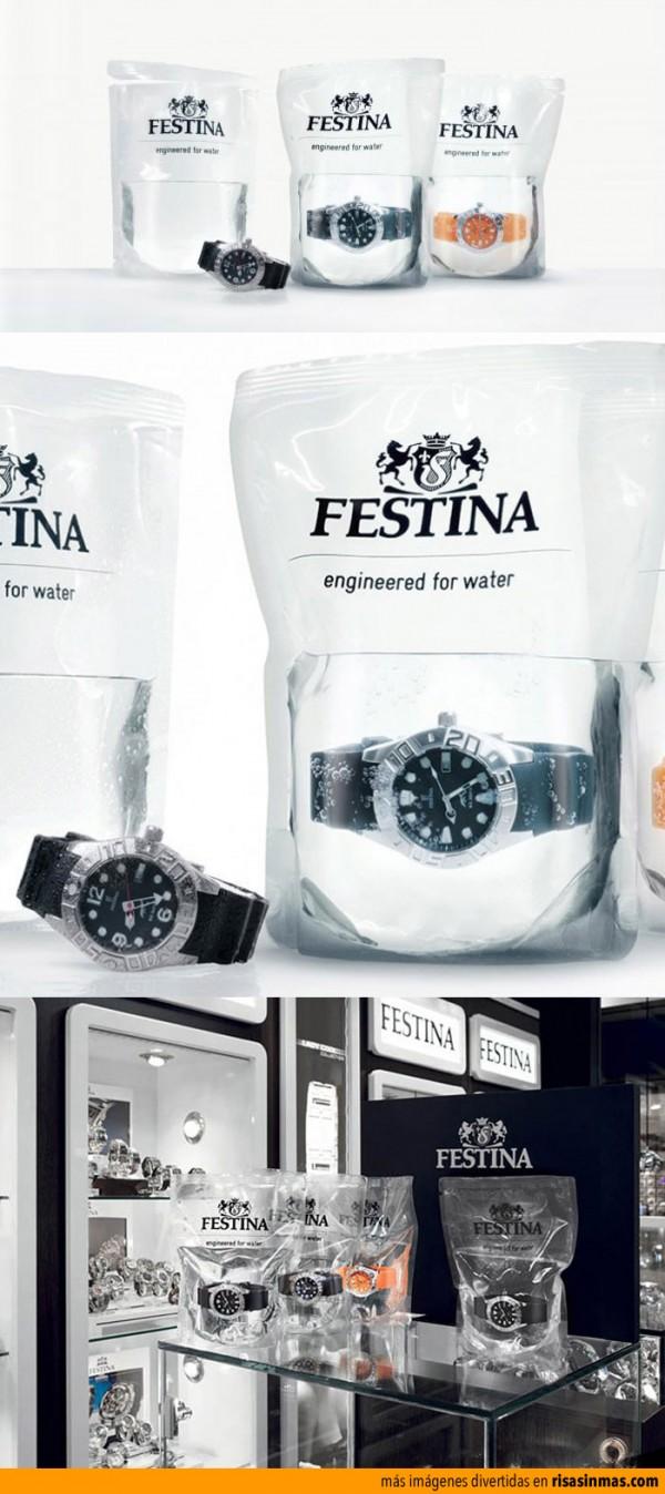 Los relojes que se venden en bolsas llenas de agua
