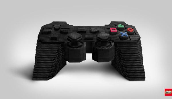 Mando playstation hecho con LEGO