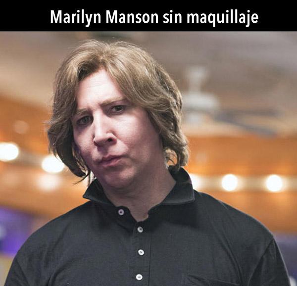 Marilyn Manson sin maquillaje