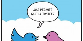 ¿Me permite que la twitee?