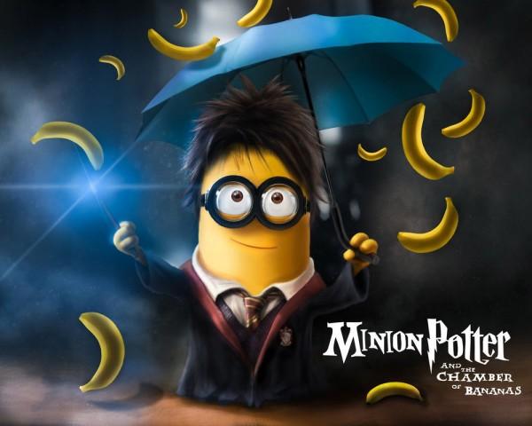 Minion Potter y la cámara de las bananas