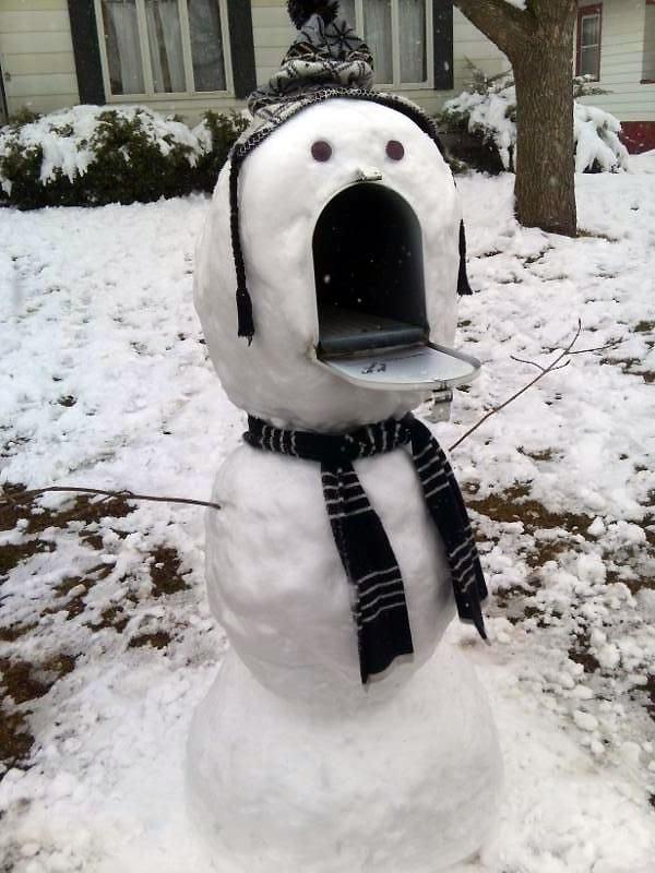 Muñeco de nieve buzón