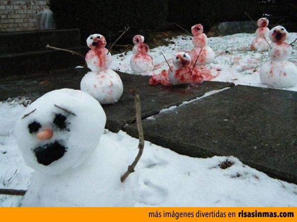 Muñecos de nieve zombie