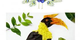 Pájaros hechos con flores