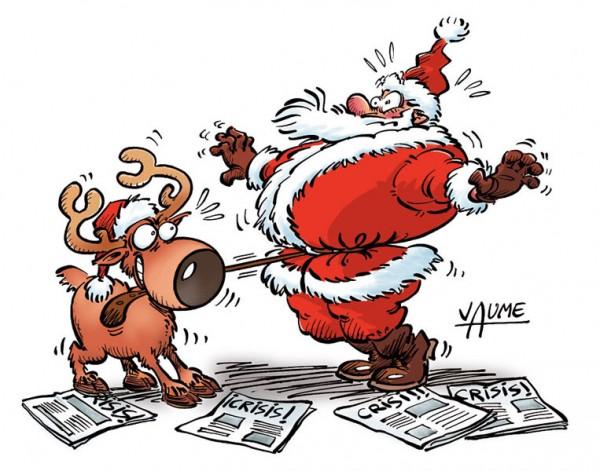 Papa Noel se ajusta el cinturón