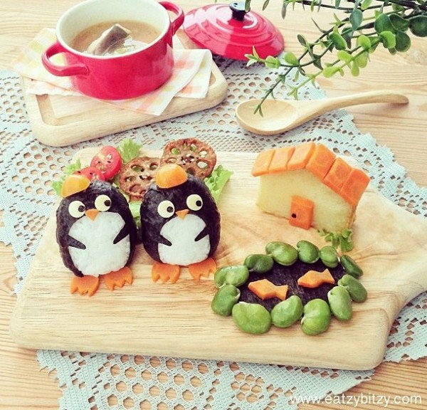 Pingüinos divertidos y comestibles