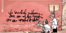 Pintada reivindicativa de los médicos