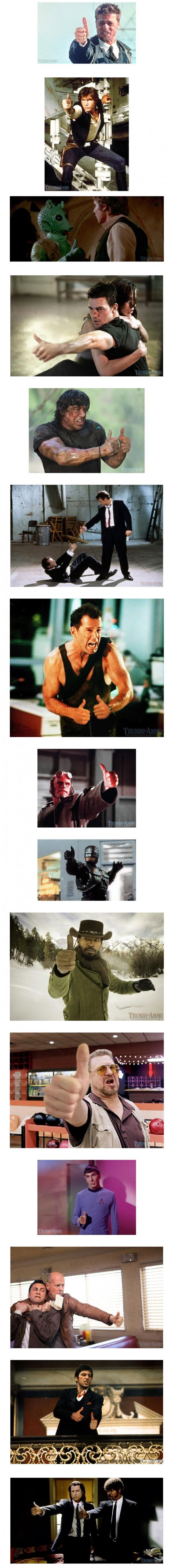 Pistolas en películas reemplazadas por pulgares arriba