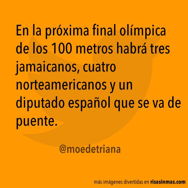 Próxima final olímpica de 100 metros