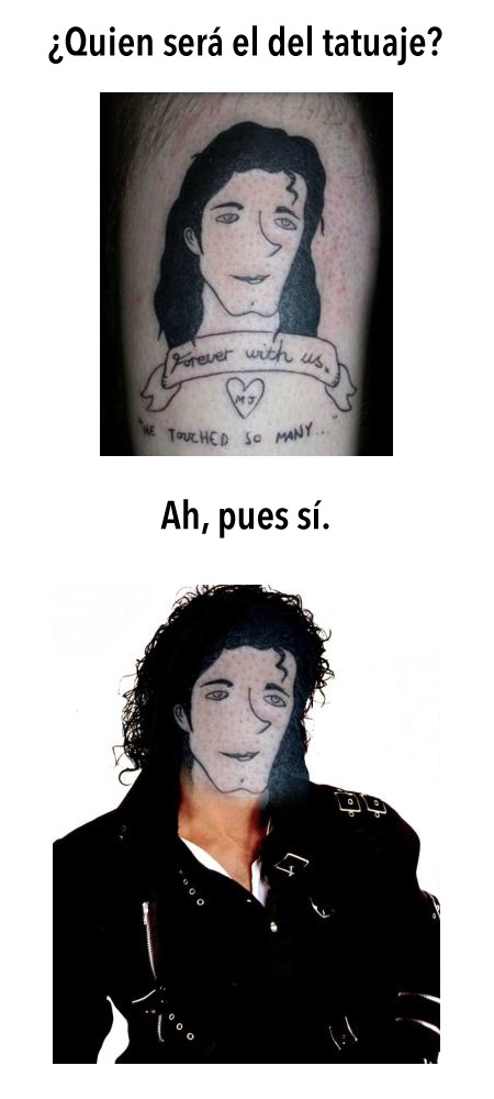 ¿Quien será el del tatuaje?