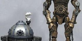 R2-D2 y C-3PO versión steampunk