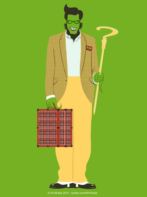 Retrato de Jim Carrey mezclando sus personajes