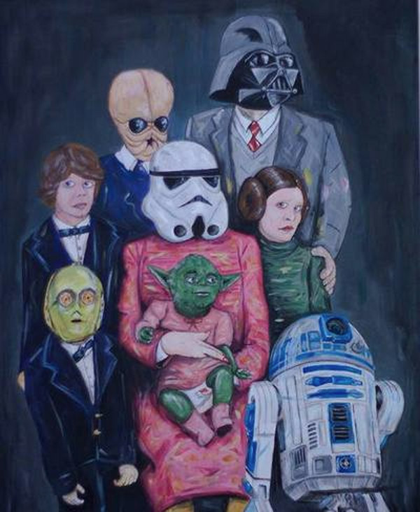 Retrato de familia de Star Wars
