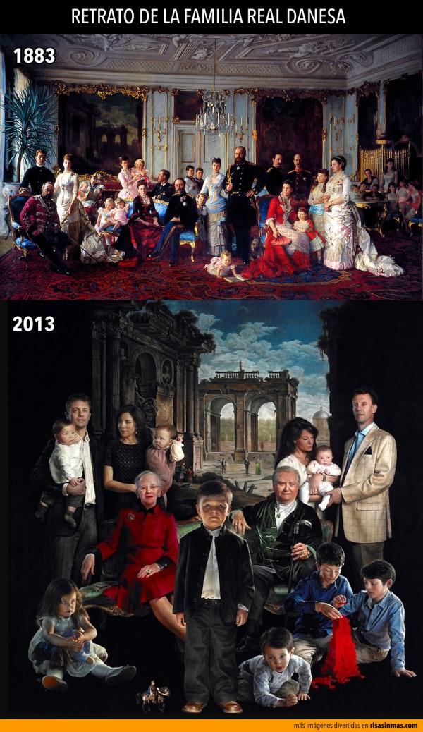 Retrato de la familia real danesa