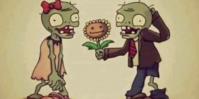 Romanticismo en Plantas vs Zombies