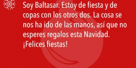 SMS de navidad de Baltasar