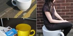 Sillas divertidas: Taza de café