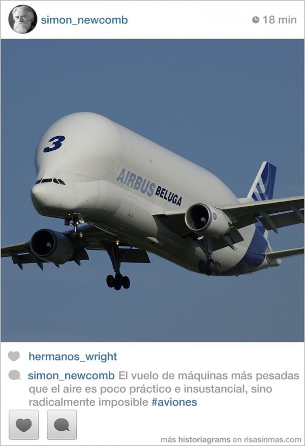 Simon Newcomb: El vuelo de los aviones