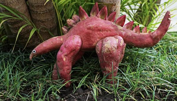 Stegosaurus hecho con tubérculos