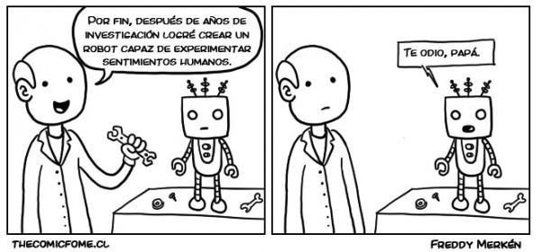 Un robot con sentimientos humanos