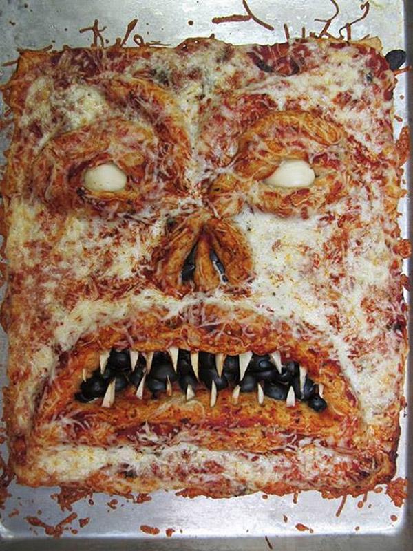 Una pizza de miedo