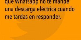 WhatsApp no manda descargas eléctricas