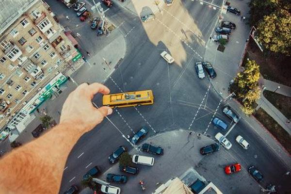 Definición gráfica: Cogiendo el autobús