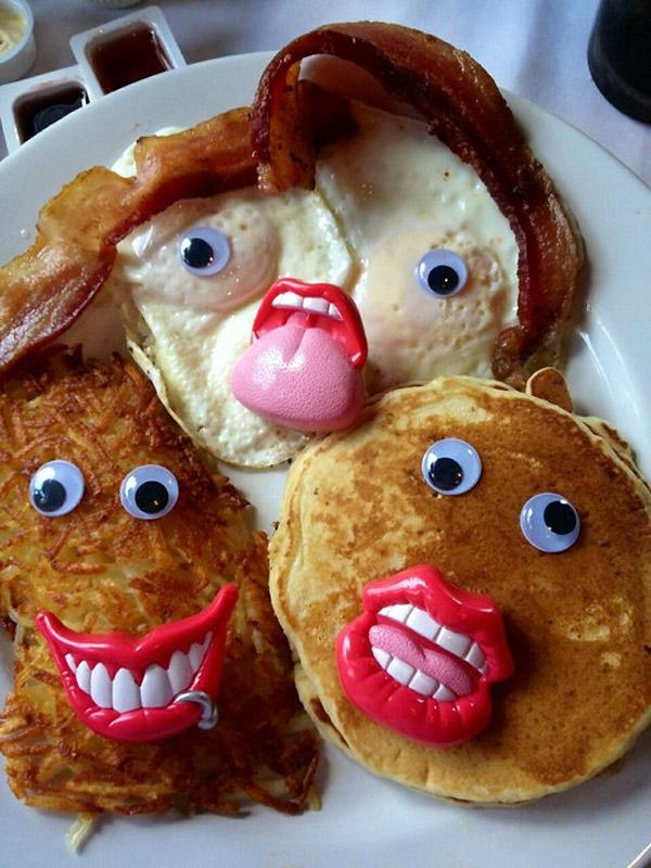 Un desayuno divertido