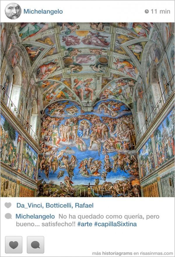 Michelangelo: No ha quedado como quería
