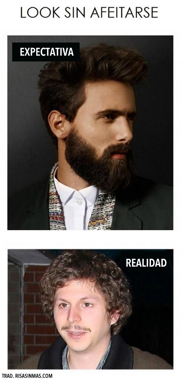Look sin afeitarse