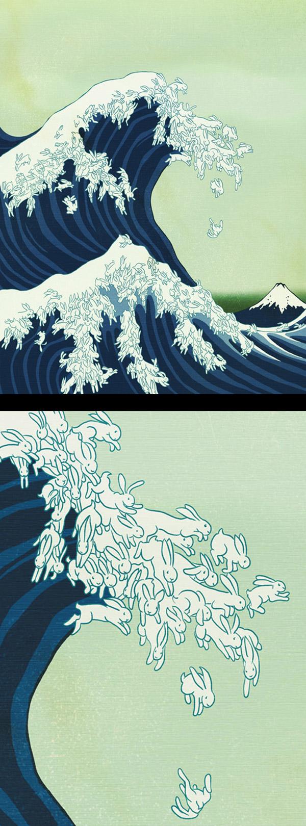 Una versión de la ola de Kanagawa