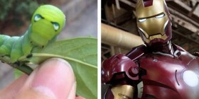 Parecidos razonables: Oruga y Iron Man