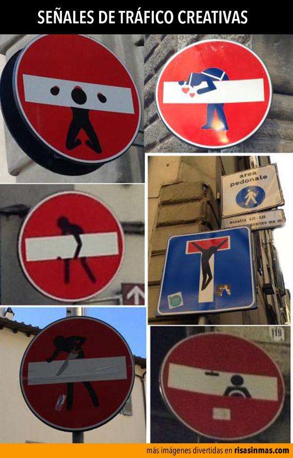 Señales de tráfico creativas (y divertidas)