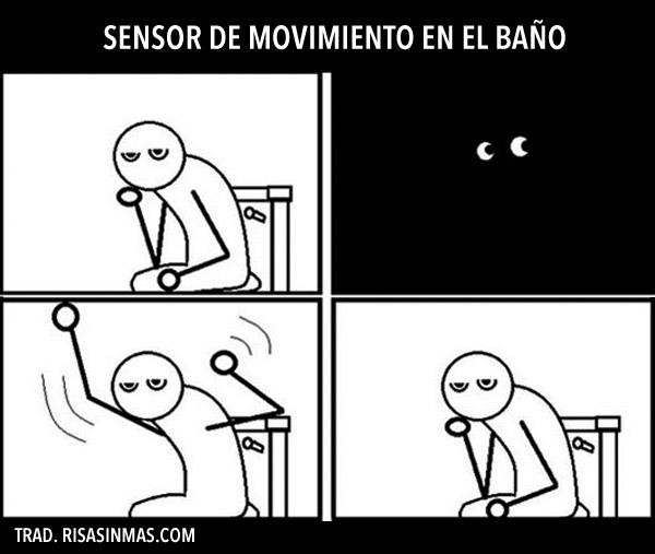 Sensor de movimiento en el baño
