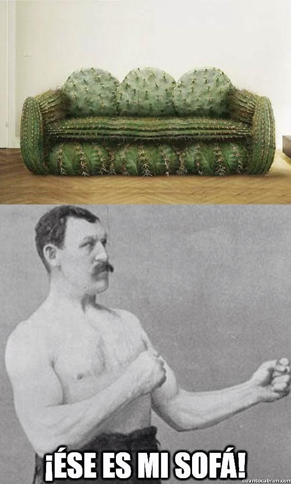 El sofá de overly manly man