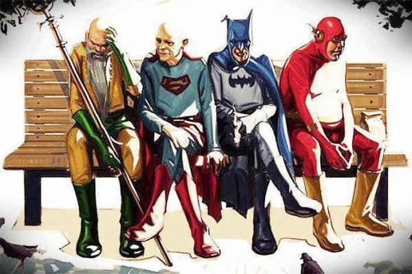 Los superhéroes también envejecen