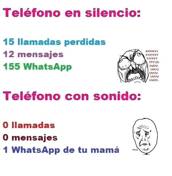 Teléfono en silencio