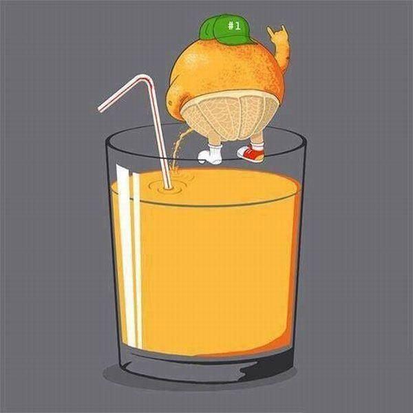 Y así se hace el zumo de naranja