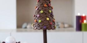 Árboles de Navidad originales: de chocolate