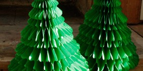 Árboles de Navidad originales: de papel
