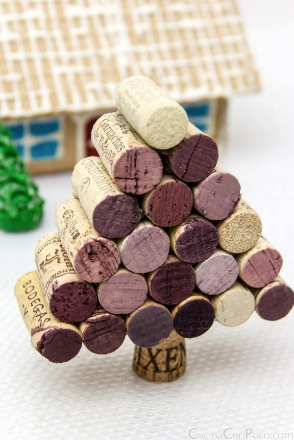 Árboles de Navidad originales: tapones de corcho