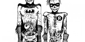 Batman y Robin zombies