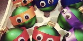 Bolas de navidad de las tortugas ninja