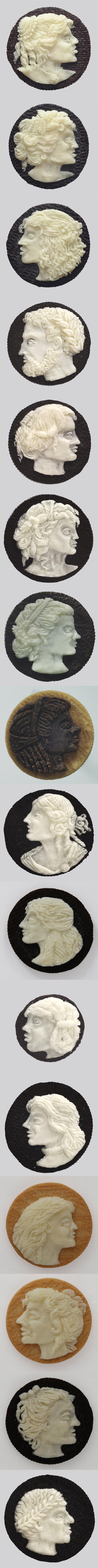 Camafeos hechos con galletas Oreo