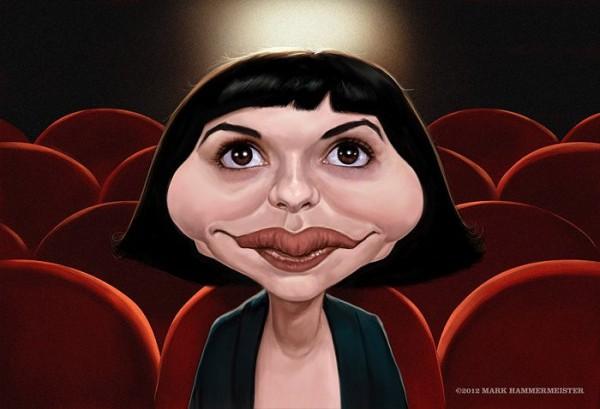 Caricatura de Audrey Tautou
