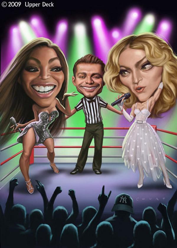Caricatura de Beyoncé vs Madonna
