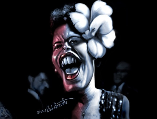 Caricatura de Billie Holiday