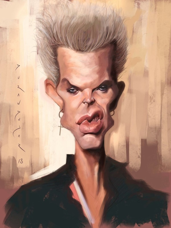 Caricatura de Billy Idol