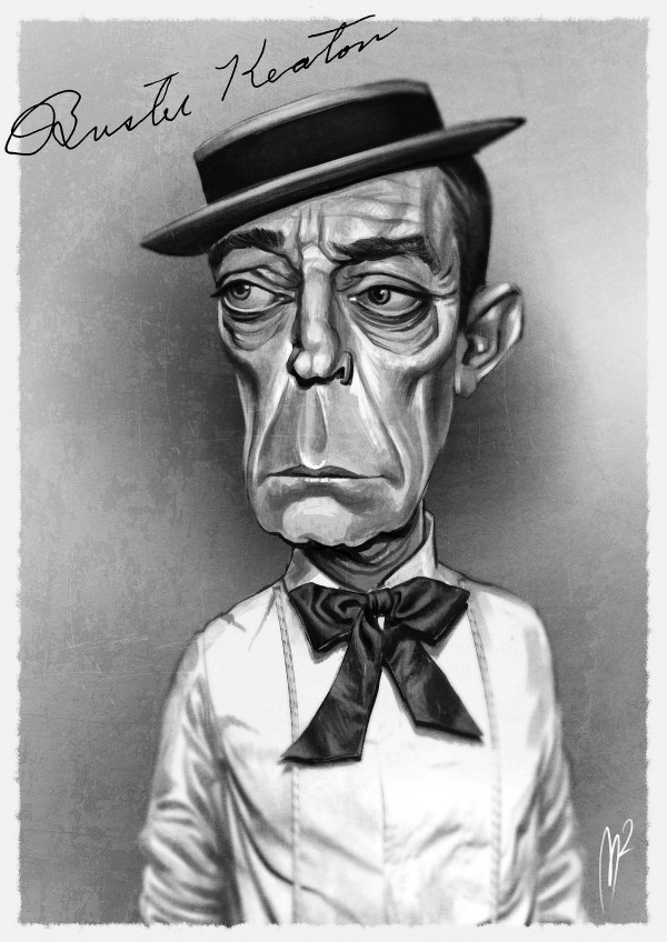Caricatura de Buster Keaton
