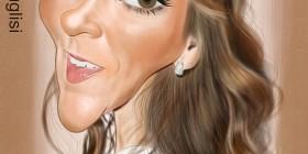 Caricatura de Celine Dion